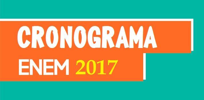 Calendário e datas enem 2017 confira - informacaobrasil.com.br