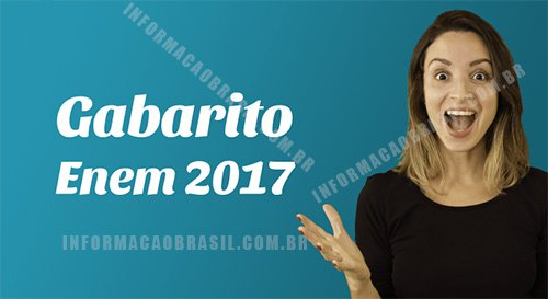 Gabarito enem 2017