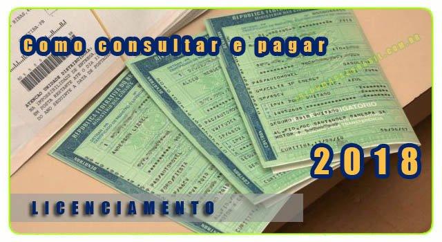 Licenciamento 2018 - Como consultar e imprimir o boleto do licenciamento Dentran