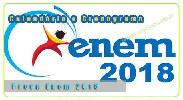 Calendário Enem-2018 - Confira as datas da prova ENEM 2018 e o local da prova
