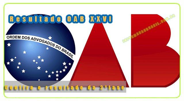 oab XXVI resultado 2ª fase